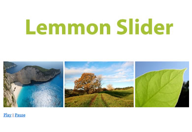Lemmon Slider – Carousel Supporting Variable Slides/Images Widths