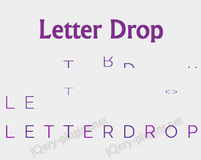 Letter Drop – jQuery Plugin for Letter Drop Effect