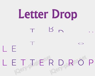 Letter Drop – jQuery Plugin for Letter Drop Effect