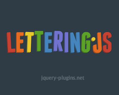 Lettering.js – jQuery Plugin for Radical Web Typography