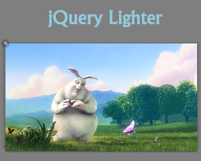 Lighter – Lightbox-Like jQuery Gallery Plugin