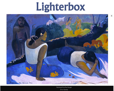 Lighterbox – Lightweight jQuery Lightbox Gallery