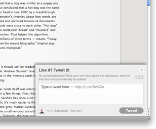 Like it? Tweet it! – Tweeting Plugin for Blog & Website