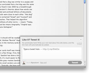 Like it? Tweet it! – Tweeting Plugin for Blog & Website