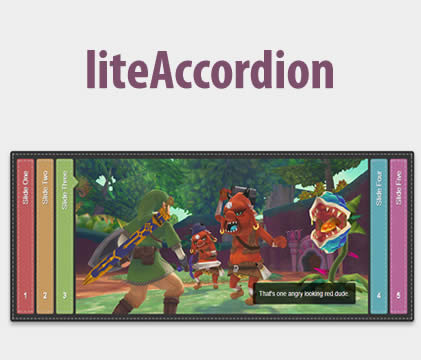 liteAccordion –  Responsive Horizontal Accordion jQuery Plugin