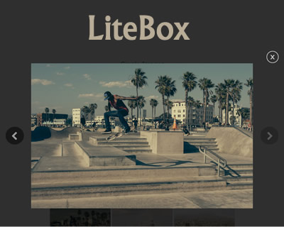 LiteBox – jQuery Lightbox/Modal Window Plugin