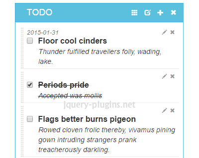 LobiList – jQuery Plugin to Create TODO List