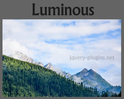 Luminous – Simple and Lightweight JavaScript Lightbox