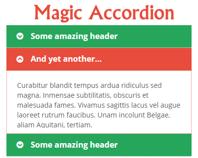 Magic Accordion – Simplest jQuery Accordion Plugin