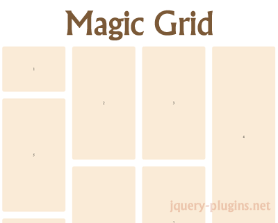 Magic Grid – Simple, Lightweight Javascript Library for Dynamic Grid Layouts