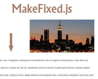 MakeFixed.js –jQuery Plugin to Create Sticky Elements on Scroll