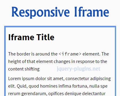 Making IFrames Responsive with Javascript
