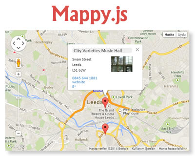 Mappy.js – Google Maps & Places jQuery Integration Plugin