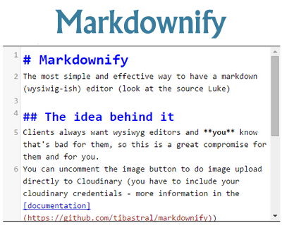 Markdownify – Simple Markdown Editor with jQuery
