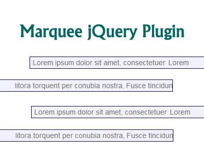 Marquee jQuery Plugin