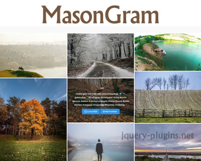 MasonGram – Add Instagram Feed to Page in Masonry Layout