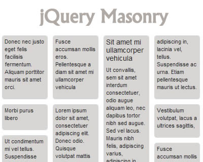 jQuery Masonry – Dynamic Layout Plugin for jQuery