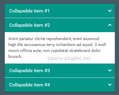 Material Design Accordion With Bootstrap Jquery Plugins