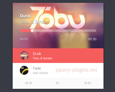 Material Design Audio Player with jQuery