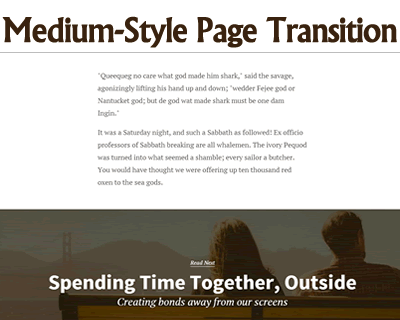 Medium-Style Page Transition