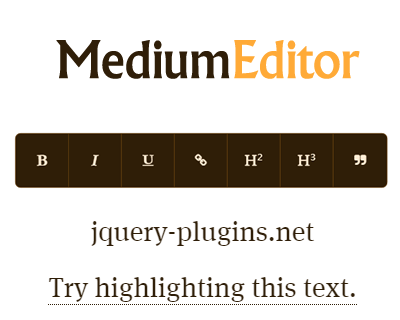 MediumEditor – Simple Javascript  Inline Editor