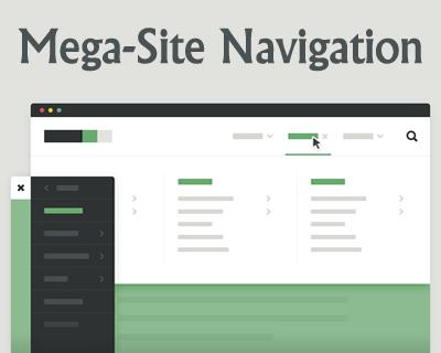 Mega-Site Navigation