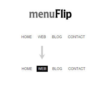 menuFlip – jQuery Plugin for Flipping Navigation Menu