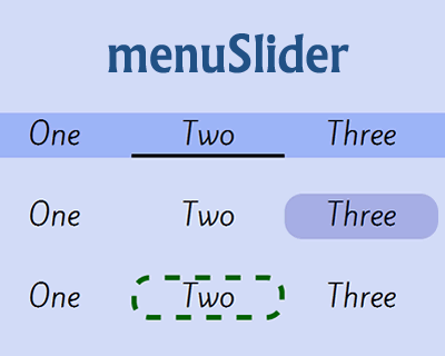menuSlider – Simple jQuery Menu Slider
