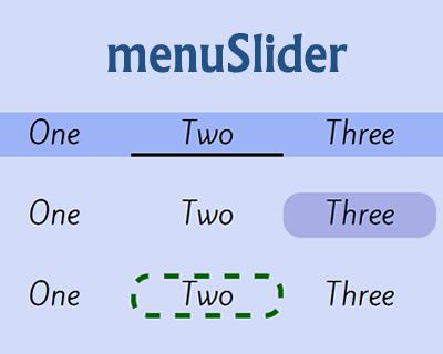 menuSlider – Simple jQuery Menu Slider