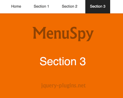 MenuSpy – Javascript Library to Highlight Menu Item Based On Scroll Position
