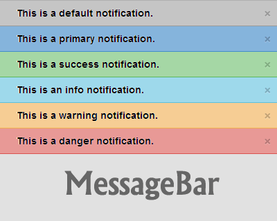 MessageBar – jQuery Plugin for Top Bar Notification Messages