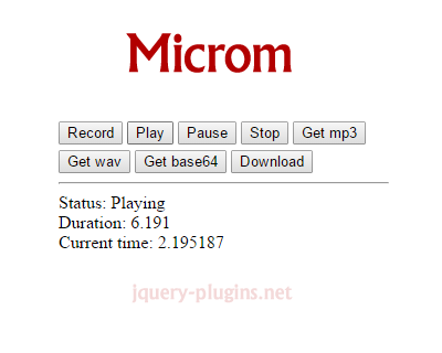 Microm – Convert Browser Microphone to MP3 in JavaScript