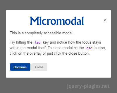Micromodal.js – Lightweight Modal Library with JavaScript