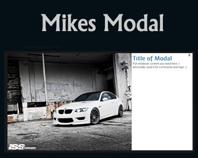 Mike's Modal Library – Facebook Like Modal Box with jQuery