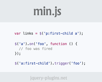 min.js – Super Minimal Selector and Event Library