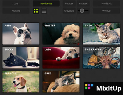 MixItUp – CSS3 and jQuery Filter & Sort Plugin