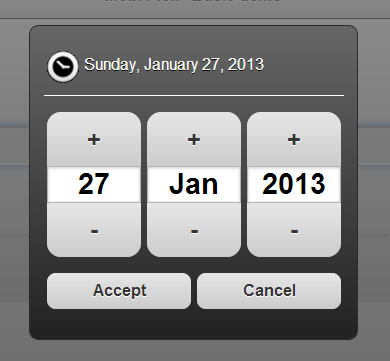 Mobi Pick – Android Style Datepicker Widget for jQuery Mobile
