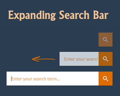 Mobile Friendly and Responsive Expanding Search Bar
