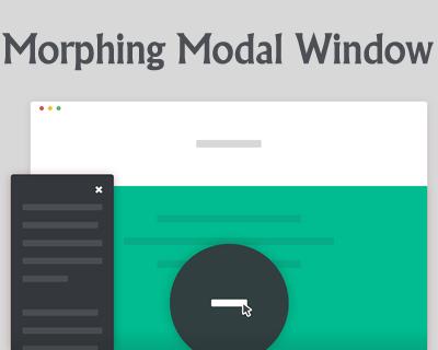 Morphing Modal Window