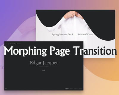 Morphing Page Transition with CSS and Javascript