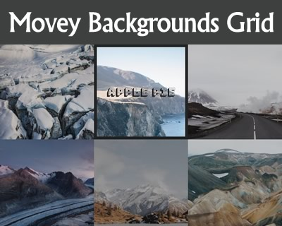 Movey Backgrounds Grid with CSS and JavaScript