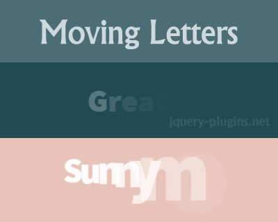 Moving Letters – Animated Letters and Typography Effects
