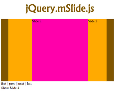 mSlide – jQuery Slider Plugin with Touch Support