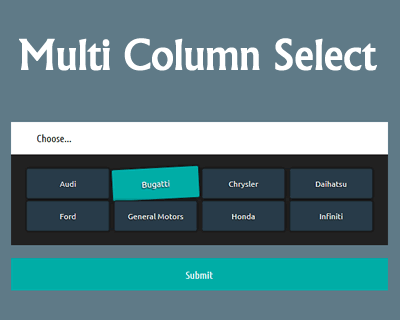 Multi Column Select