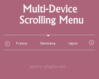 Multi-Device Scrolling Menu