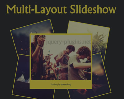 Multi-Layout Slideshow with Anime.js
