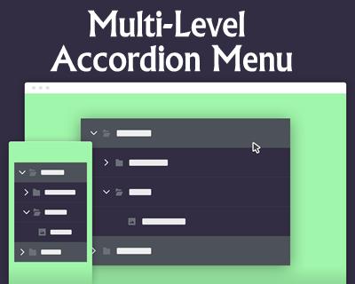 Multi-Level Accordion Menu