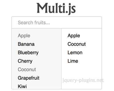 Multi.js – Replacement for Select Boxes with Multiple Attribute