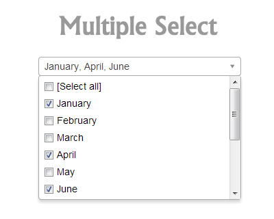 Multiple Select – jQuery Plugin to Select Multiple Elements