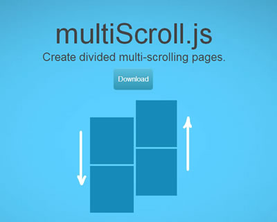 multiScroll.js – Divided Multi-Scrolling Pages